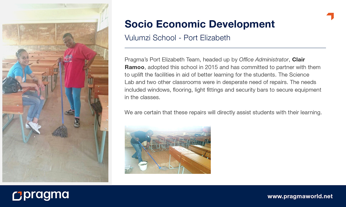 Socio Economic Development - Vulumzi School - Port Elizabeth