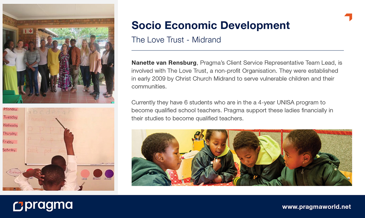 Socio Economic Development - The Love Trust - Midrand