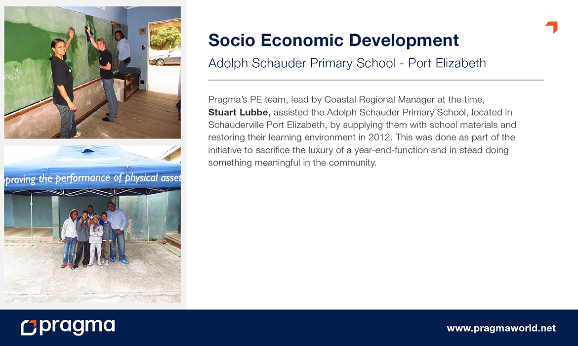 Socio Economic Development - Adolph Schauder Primary School - Port Elizabeth