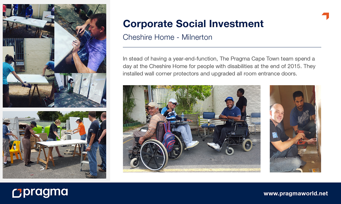 Corporate Social Investment - Cheshire Home - Milnerton